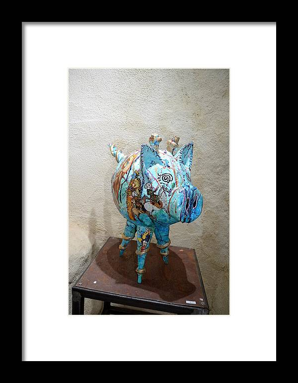 Arts Singuliers Sculpture Framed Print featuring the sculpture Marie Mathematique by Kitoo Wikitoo Calaudi