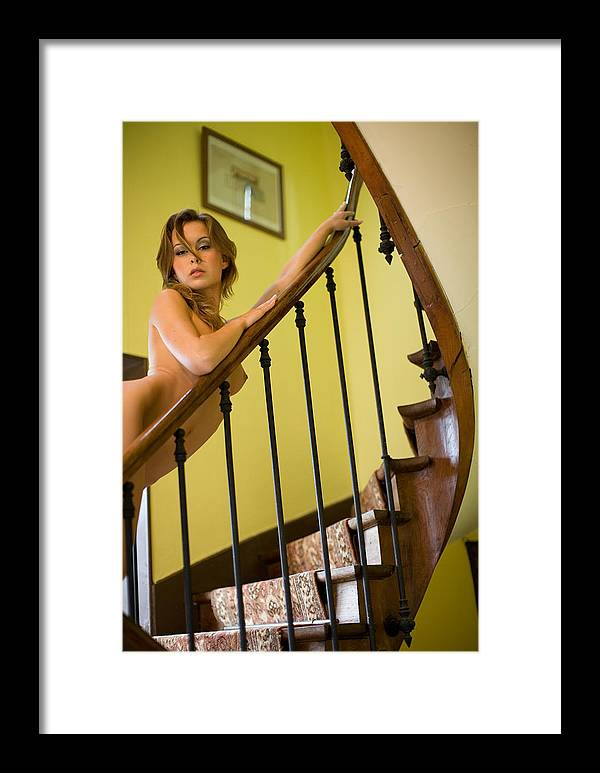 Sensual Framed Print featuring the photograph Marie by Olivier De Rycke