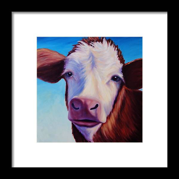 Cow Framed Print featuring the painting Marie by Shannon Grissom