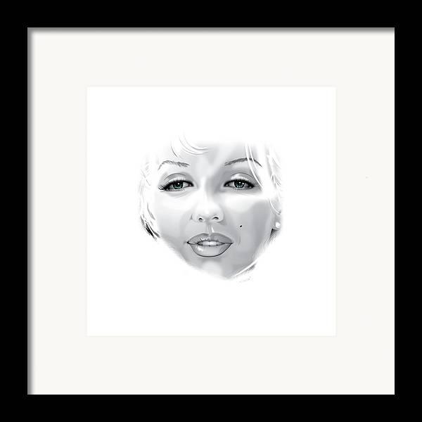 Marilyn Munroe Framed Print featuring the digital art Marilyn by Brian Gibbs