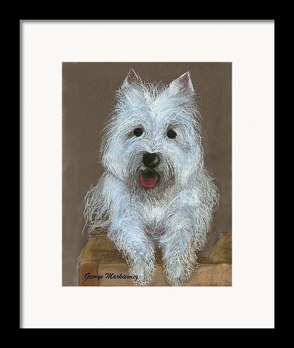 Dog Framed Print featuring the print Marilyn by George Markiewicz