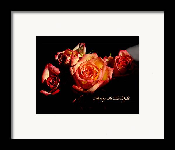 Framed Print featuring the photograph Marilyn Light by Richard Gordon