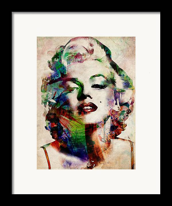Marilyn Monroe Framed Print featuring the digital art Marilyn by Michael Tompsett