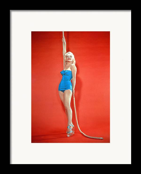 1950s Fashion Framed Print featuring the photograph Marilyn Monroe, C. 1950s by Everett