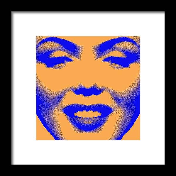 Digital Design Framed Print featuring the digital art Marilyn Monroe by Daniel House