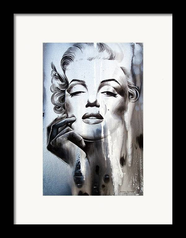 Marilyn Monroe Framed Print featuring the painting Marilyn Monroe by Fatima Azimova