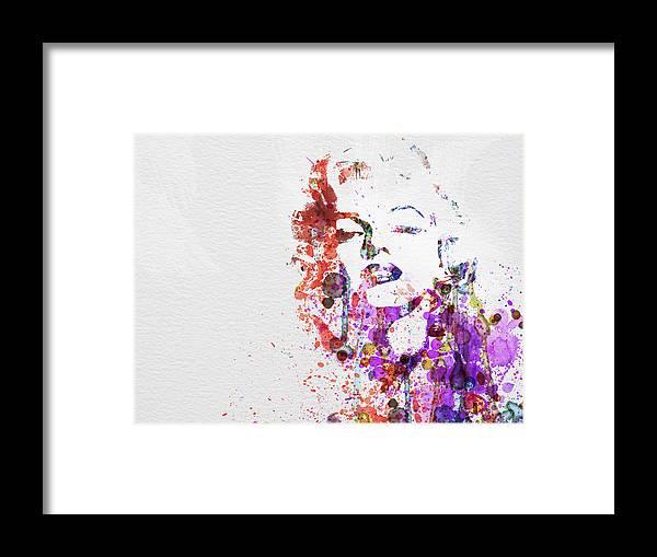 Marilyn Monroe Framed Print featuring the painting Marilyn Monroe by Naxart Studio