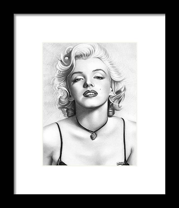 Marilyn Monroe Pencil And Charcoal Framed Print by Movie Poster Prints