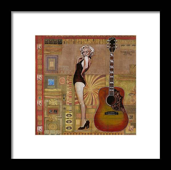 Marilyn Monroe Framed Print featuring the painting Marilyn by Ray Stephenson