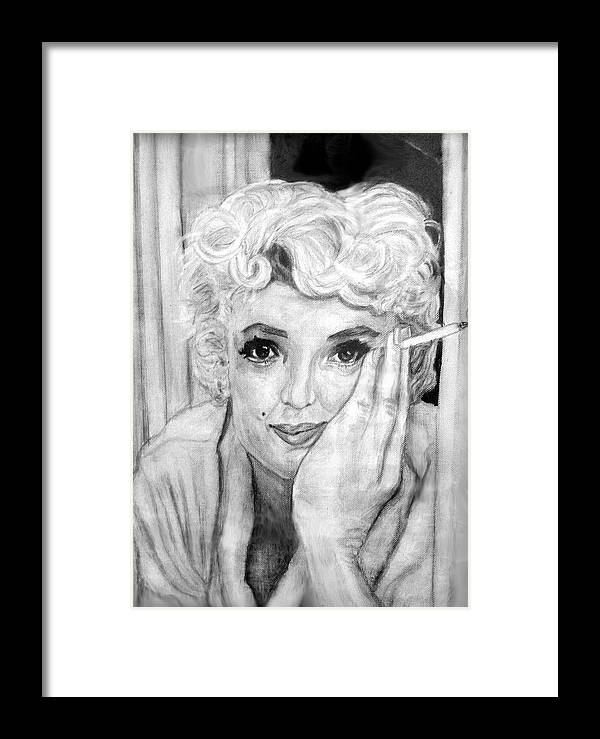 People Framed Print featuring the painting Marilyn by Stephen Mead
