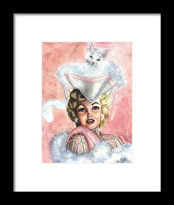 Portrait Framed Print featuring the painting Marilyne by Scarlett Royal