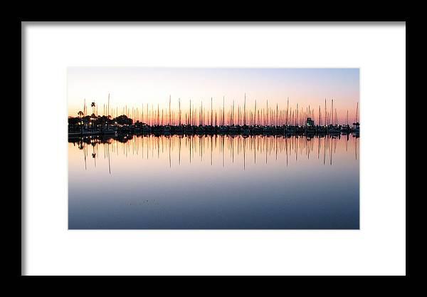Marina.dawn Framed Print featuring the photograph Marina At Dawn by Farol Tomson
