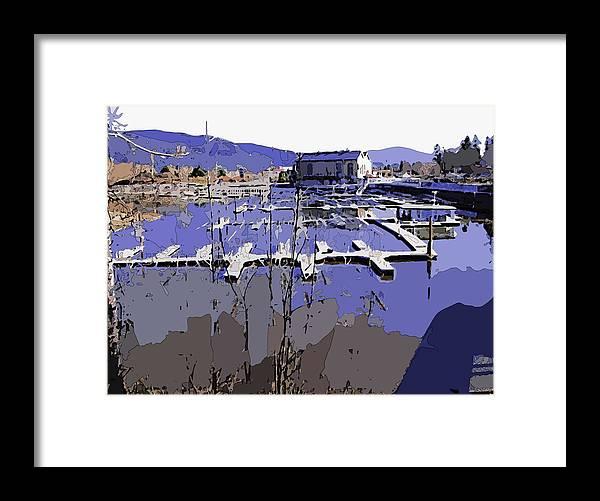 Marina Framed Print featuring the digital art Marina In Spring by Robert Bissett