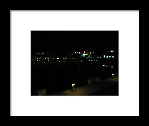 Marina Nights Framed Print featuring the photograph Marina Nights by Michael TMAD Finney