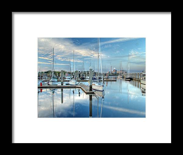 Fernandina Framed Print featuring the photograph Marina Sunrise by Farol Tomson