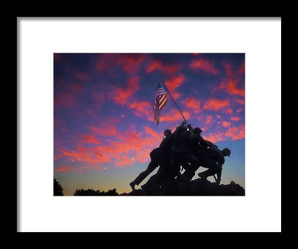 Marine Framed Print featuring the photograph Marines At Dawn 2 by JC Findley