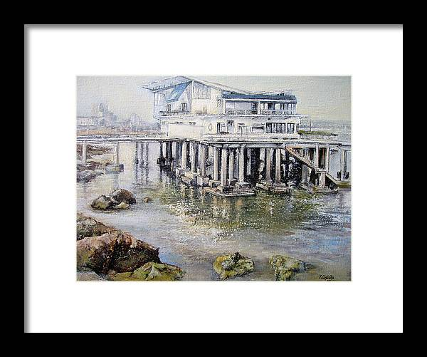 Maritim Framed Print featuring the painting Maritim Club Castro Urdiales by Tomas Castano