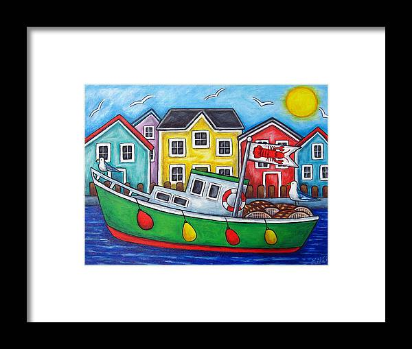 Lisa Lorenz Framed Print featuring the painting Maritime Special by Lisa Lorenz