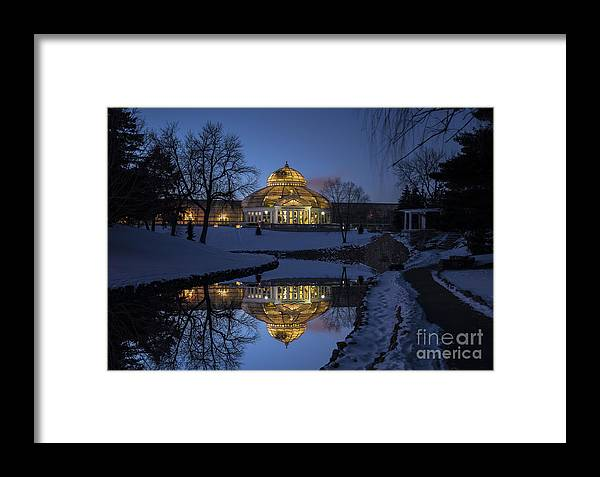 Saint Paul Framed Print featuring the photograph Marjorie Mcneely Conservatory At Dusk by Craig Hinton