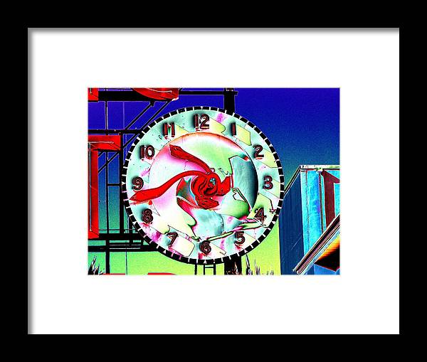 Seattle Framed Print featuring the photograph Market Clock 2 by Tim Allen