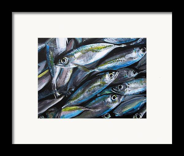 Fish Framed Print featuring the painting Market Day by Fiona Jack