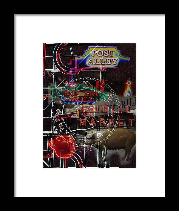 Seattle Framed Print featuring the photograph Market Medley by Tim Allen