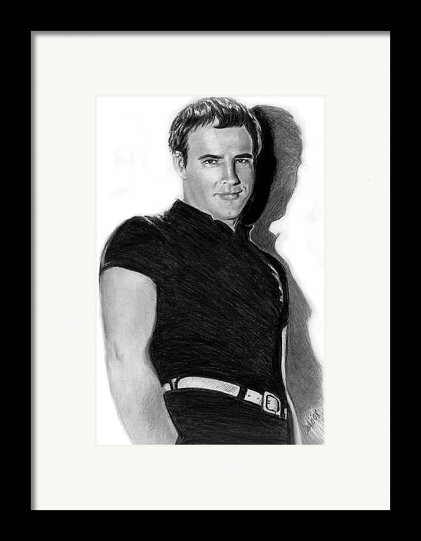 Hollywood Framed Print featuring the print Marlon by Carliss Mora