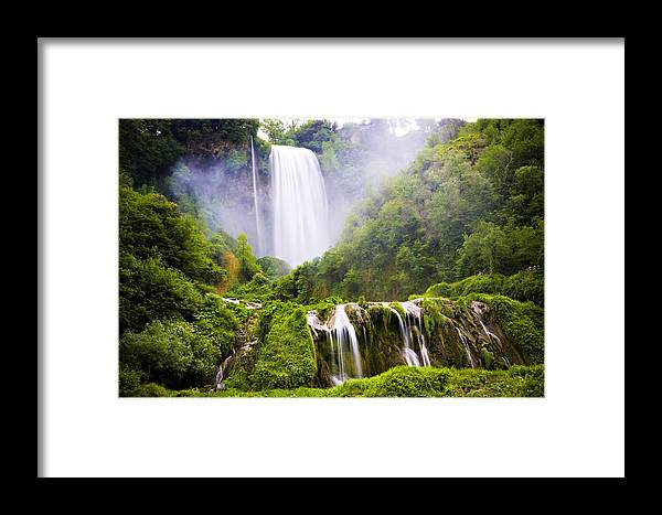 Italy Framed Print featuring the photograph Marmore Waterfalls Italy by Marilyn Hunt