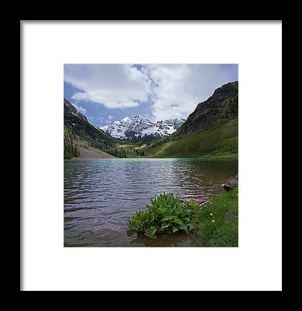 Aspen Framed Print featuring the photograph Maroon Bells Spring by Heather Coen