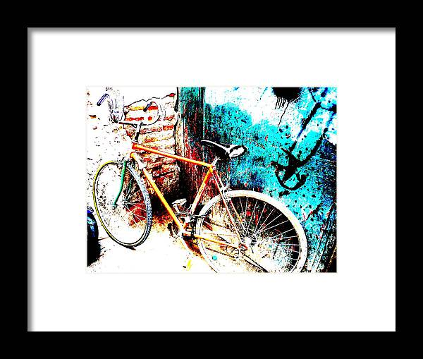 Marrakech Framed Print featuring the photograph Marrakech Funky Bike by Funkpix Photo Hunter