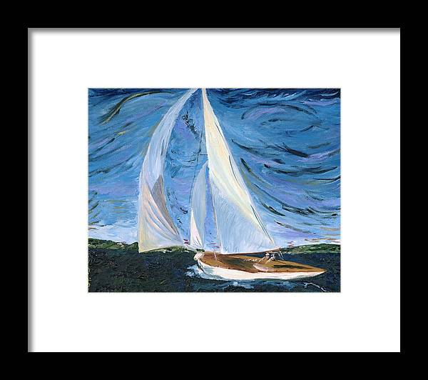 Sailboat Framed Print featuring the painting Marriage by Modern Impressionism