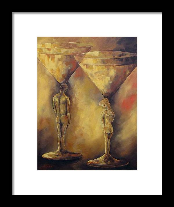 Martini Framed Print featuring the painting Marriage of the Martinis by Torrie Smiley