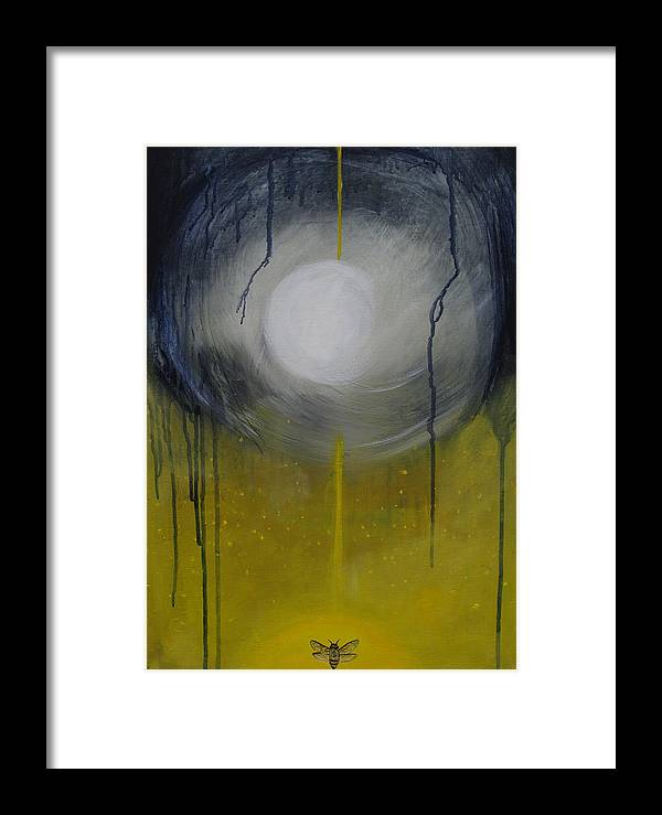 Sun Framed Print featuring the painting Marriage Of The Sun And The Moon by Cecilia August Sand