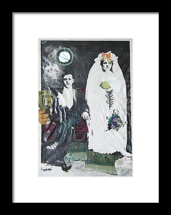 Feminist Framed Print featuring the painting Marriage Portrait 2004 by Patricia Hoffman