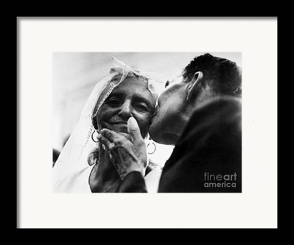 100 Framed Print featuring the photograph Marrying At 100 by Granger
