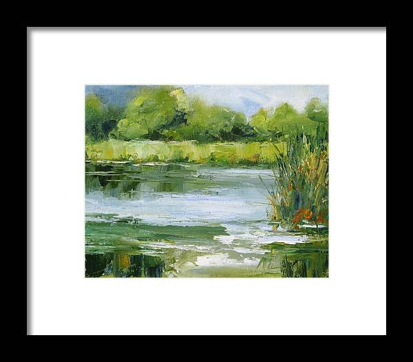Plein Air Landscape Framed Print featuring the painting Marsh Inlet by Barrett Edwards