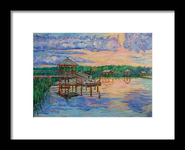 Landscape Framed Print featuring the painting Marsh View At Pawleys Island by Kendall Kessler