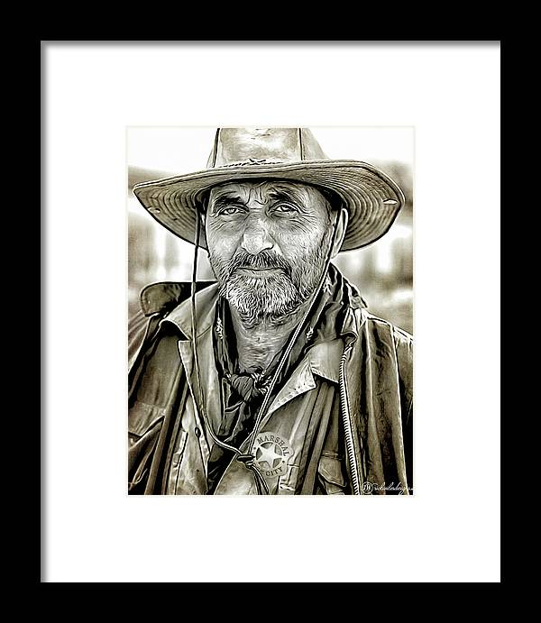 Man Framed Print featuring the digital art Marshal Pike by Rick Wiles