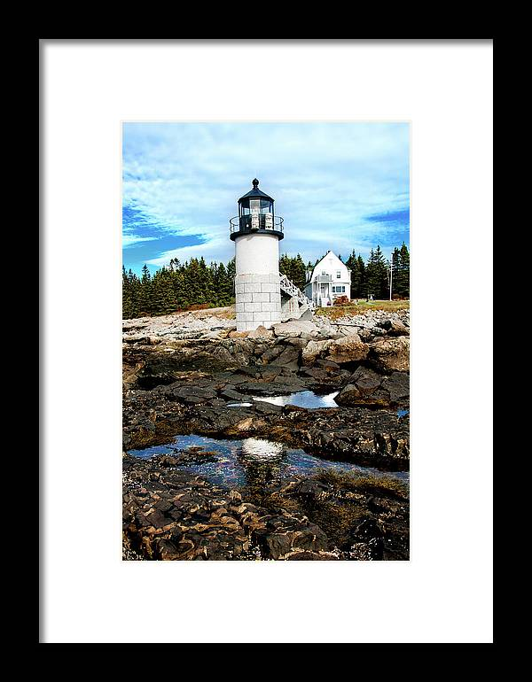 Maine Framed Print featuring the photograph Marshall Point Reflection by Greg Fortier