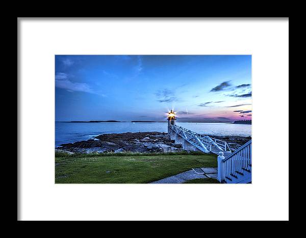 Maine Framed Print featuring the photograph Marshall Point View by Diana Powell