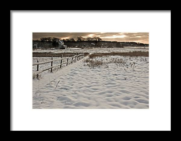 Landscape Framed Print featuring the photograph Marshland Cape Elizabeth Maine by Filipe N Marques