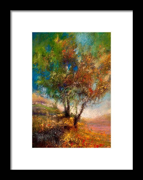 Framed Print featuring the painting Martha's Pond by Paul Birchak