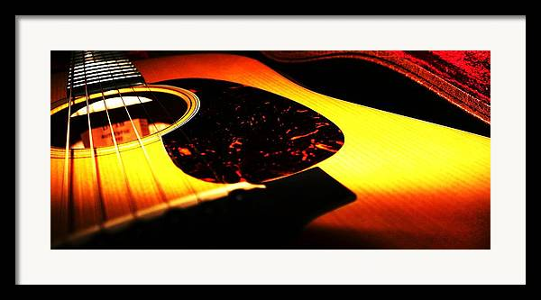 Guitar Framed Print featuring the photograph Martin by Erika Lesnjak-Wenzel