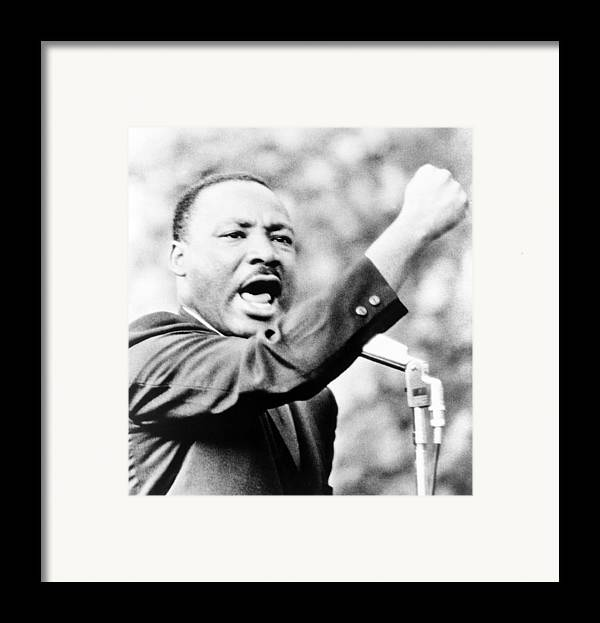 History Framed Print featuring the photograph Martin Luther King, Jr., Gesturing by Everett