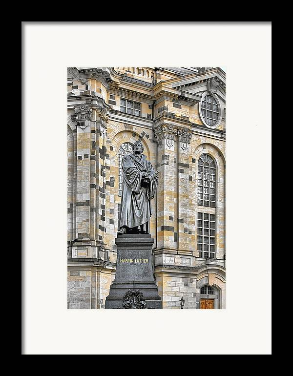 Martin Luther Framed Print featuring the photograph Martin Luther Monument Dresden by Christine Till