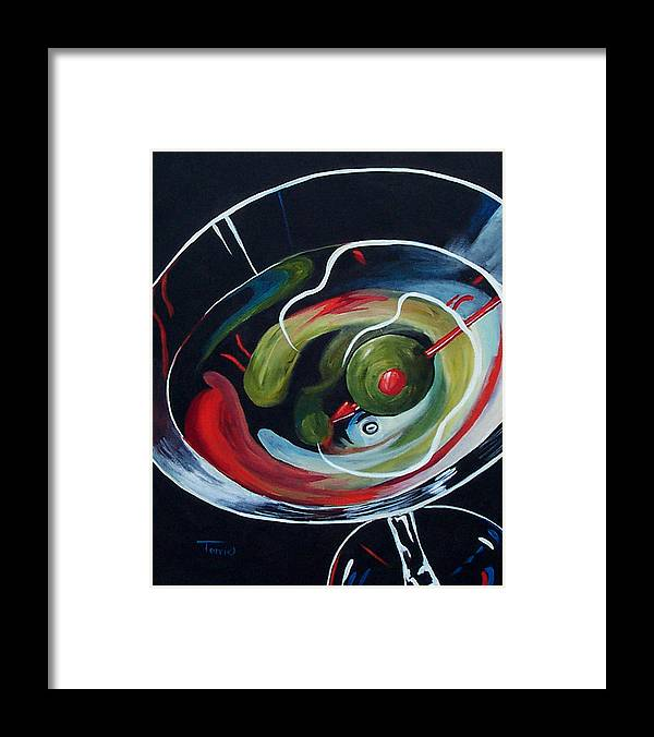 Martini Framed Print featuring the painting Martini - Stirred IV by Torrie Smiley