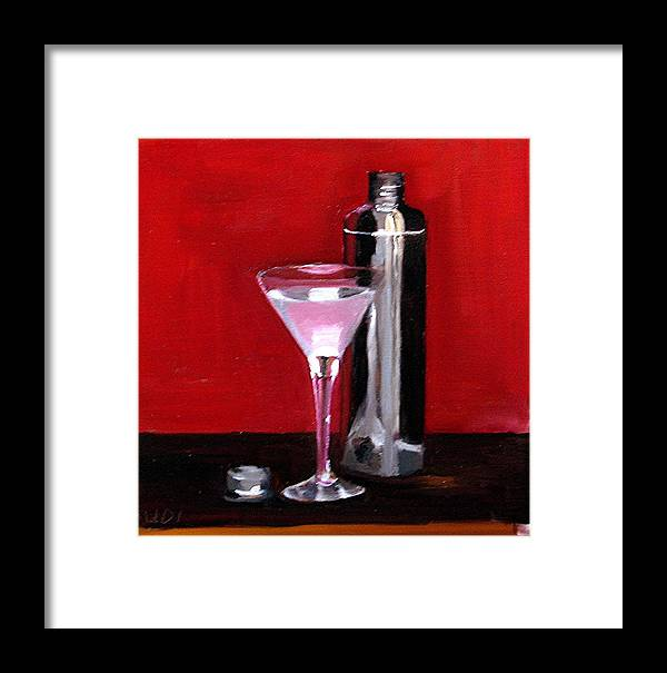 Still Life Drinks Food And Beverage Martini Framed Print featuring the painting Martini 2 by Udi Peled