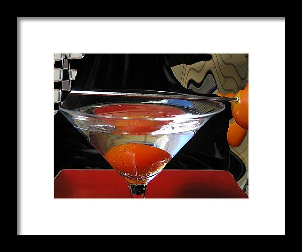 Still Life Framed Print featuring the photograph Martini Fantazy1 by Evguenia Men