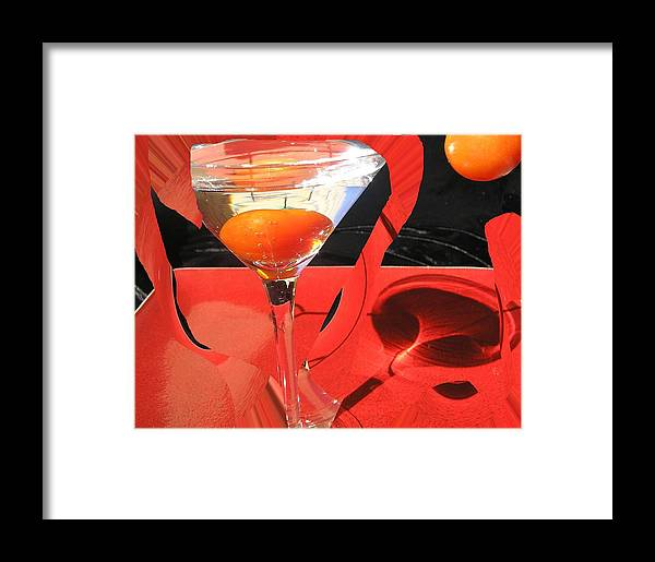 Still Life Framed Print featuring the photograph Martini Fantazy4 by Evguenia Men