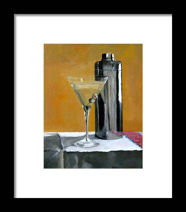 Still Life Framed Print featuring the painting Martini3 by Udi Peled